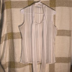 New York & Company Tie Front Sleeveless Blouse